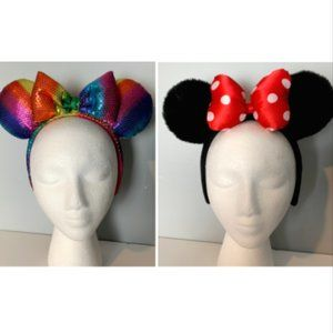 Set of 2 Disney Parks Minnie Mouse Headbands